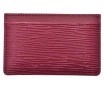 Second Hand  Täschchen/Portemonnaie aus Leder in Rot