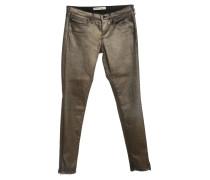 Second Hand  Jeans mit Goldbeschichtung