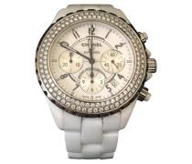 Second Hand  Armbanduhr in Weiß