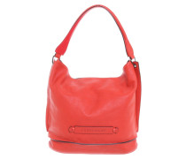 Second Hand  Schultertasche in Rot