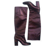 Second Hand  Stiefel Leder in Bordeaux