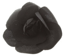 Second Hand  Kamelien-Brosche in Schwarz