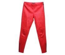 Second Hand  Hose aus Leder in Rot