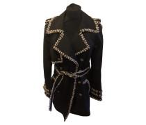 Second Hand  Jacke/Mantel aus Baumwolle in Schwarz