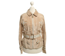 Second Hand  Wildlederjacke in Beige