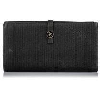 Second Hand Täschchen/Portemonnaie aus Leder in Schwarz