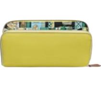 Second Hand  Täschchen/Portemonnaie aus Leder in Gelb
