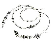 Second Hand  Halskette in Schwarz/Weiß