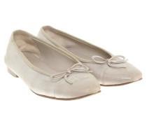 Second Hand  Ballerinas in Beige/Metallic
