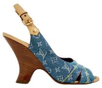 Second Hand  Sandaletten mit Monogram-Muster