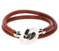 Second Hand  Wickelarmband mit silberfarbener Schließe
