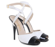Second Hand Sandaletten in Schwarz/Creme