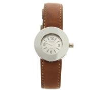 Second Hand  Uhr in Silber/Braun