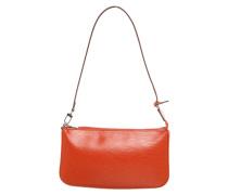 Second Hand Pochette Accessoires aus Leder in Orange
