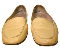 Second Hand  Sandalen aus Leder in Beige