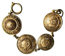 Second Hand  Vergoldetes Medaillon-Armband