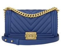 Second Hand  Handtasche aus Leder in Blau