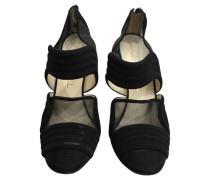 Second Hand  Sandalen aus Wildleder in Schwarz