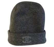 Second Hand  Hut/Mütze aus Kaschmir in Grau