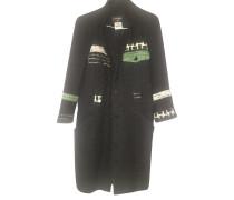 Second Hand  Jacke/Mantel aus Wolle in Schwarz
