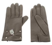 Second Hand  Lederhandschuhe in Grau