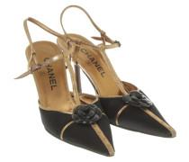 Second Hand  Sandaletten in Schwarz und Gold