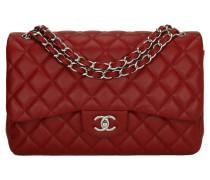 Second Hand  Handtasche aus Leder in Rot