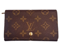 acccde4028fca Second Hand Täschchen Portemonnaie aus Canvas in Braun. Louis Vuitton