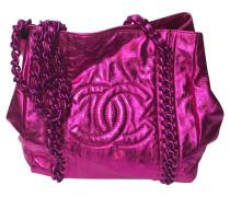 Second Hand  Handtasche in Pink-Metallic