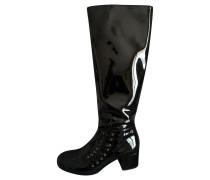 Second Hand  Stiefel aus Lackleder in Schwarz