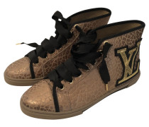 Second Hand  Goldfarbene High-Top-Sneakers