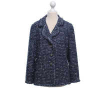 Second Hand  Bouclé-Blazer in Blau/Weiß
