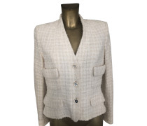 Second Hand  Bouclé-Blazer in Creme