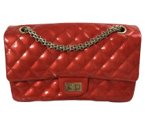 Second Hand  Handtasche aus Lackleder in Rot