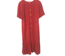 Second Hand  Kleid aus Wolle in Rot