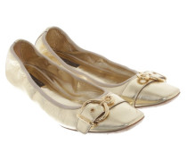 Second Hand  Ballerinas in Gold