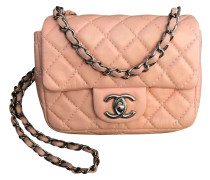 Second Hand  Flap Bag aus Leder in Rosa / Pink