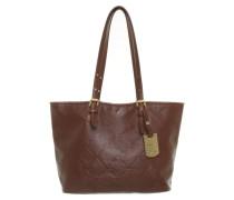 Second Hand  Leder-Handtasche in Braun