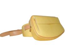 Second Hand  Reisetasche aus Leder in Gelb