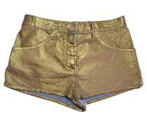 Second Hand  Goldfarbene Shorts