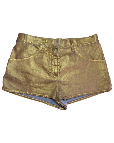 Second Hand  Goldfarbene Shorts
