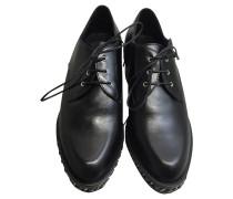 Second Hand  Schnürschuhe aus Leder in Schwarz