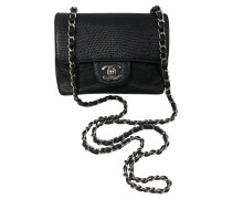 Second Hand  Classic Flap Bag aus Leder in Schwarz