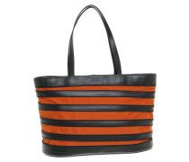 Second Hand  Handtasche in Schwarz/Orange