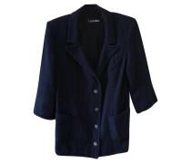 Second Hand  Blazer aus Baumwolle in Blau