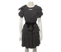 Second Hand  Kleid aus Seide in Grau