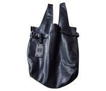 Second Hand  Schwarze Lederhandtasche