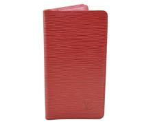 0a19d1041f84e Second Hand Täschchen Portemonnaie aus Leder in Rot. Louis Vuitton