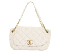Second Hand  Flap Bag in Creme