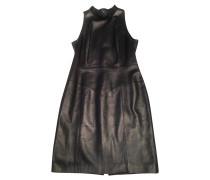 Second Hand  Kleid aus Leder in Schwarz